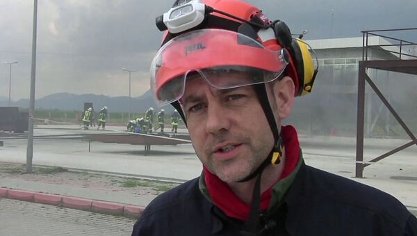 FILE - In this image taken from file video, showing James Le Mesurier, founder and director of Mayday Rescue, talks to the media during training exercises in southern Turkey, March 19, 2015 - Sputnik International