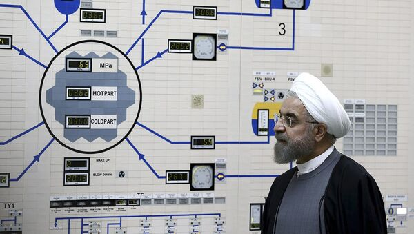 In this Jan. 13, 2015, file photo released by the Iranian President's Office, President Hassan Rouhani visits the Bushehr nuclear power plant just outside of Bushehr, Iran.  - Sputnik International