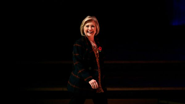 Former U.S. Secretary of State Hillary Clinton arrives to attend an event promoting The Book of Gutsy Women at the Southbank Centre in London, Britain, November 10, 2019 - Sputnik International
