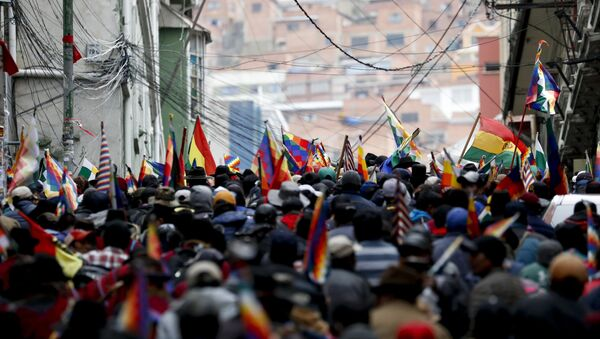 Supporters of former President Evo Morales in La Paz - Sputnik International