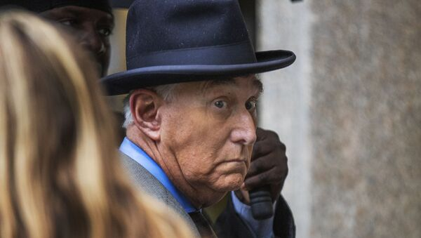 Roger Stone, a longtime Republican provocateur and former confidant of President Donald Trump, waits in line at the federal court in Washington - Sputnik International