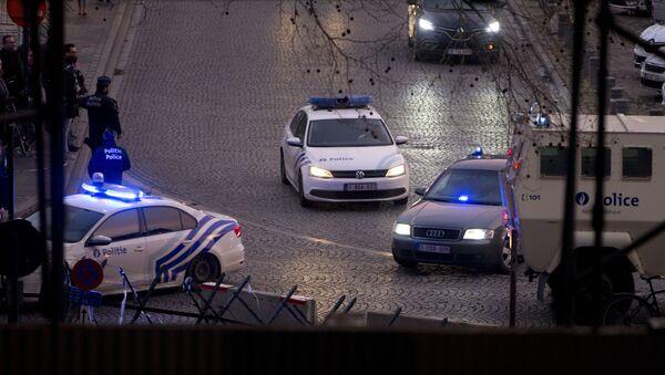 Police cars near the Justice Palace in Brussel - Sputnik International