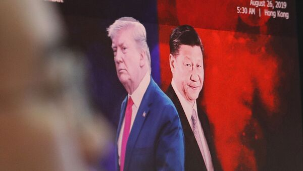 Images of Chinese President Xi Jinping and U.S. President Donald Trump - Sputnik International