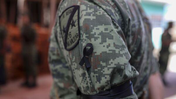 A Mexican army soldier in Veracruz, Mexico - Sputnik International