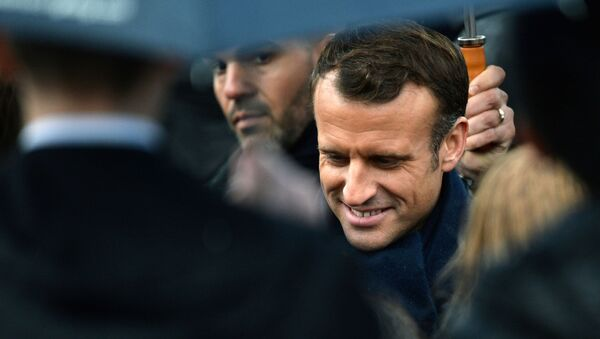 French President Emmanuel Macron attends a commemoration ceremony for Armistice day, 101 years after the end of the First World War, at the Arc de Triomphe in Paris, France November 11, 2019. REUTERS/Johanna Geron - Sputnik International
