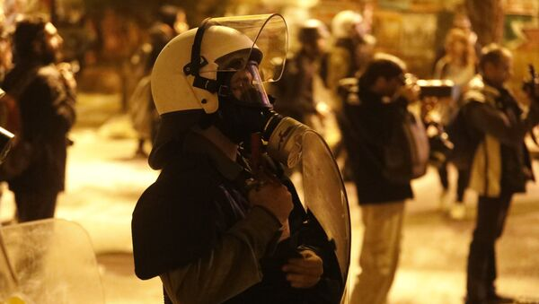 Police in Athens on the 46th anniversary of the Athens Polytechnic uprising - Sputnik International