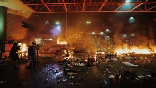 Fire at Hong Kong Polytechnic University - Sputnik International