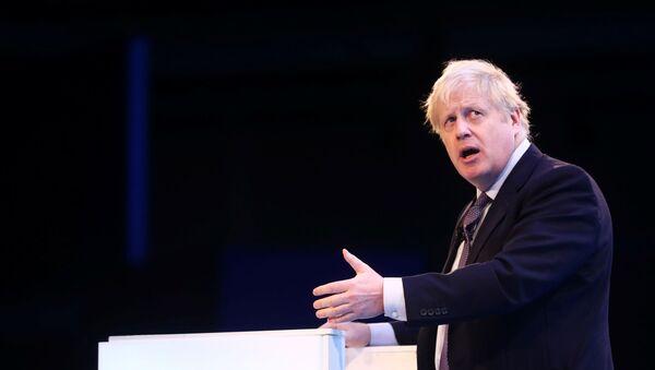 Britain's Prime Minister Boris Johnson speaks at the annual CBI Conference in London, Britain November 18, 2019 - Sputnik International