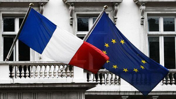 Flag of France and EU - Sputnik International