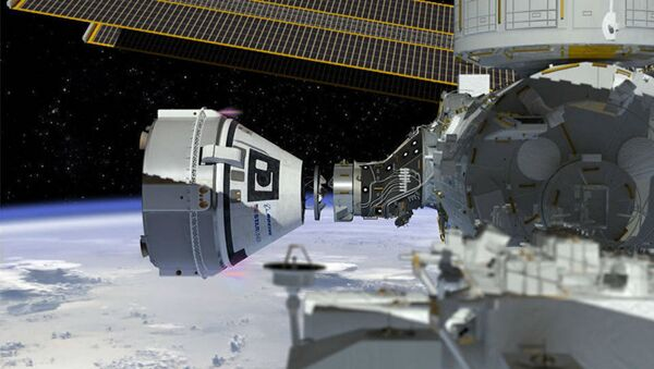 This artist's concept shows Boeing's CST-100 Starliner spacecraft, currently under development for NASA's Commercial Crew Program, docking to the International Space Station - Sputnik International