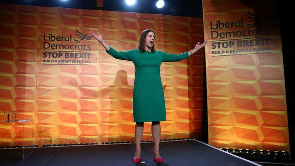 Britain's Liberal Democrat leader Jo Swinson speaks at the launch of the party manifesto in London, Britain, November 20, 2019. - Sputnik International
