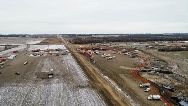 Keystone pipeline in Walsh County, North Dakota - Sputnik International