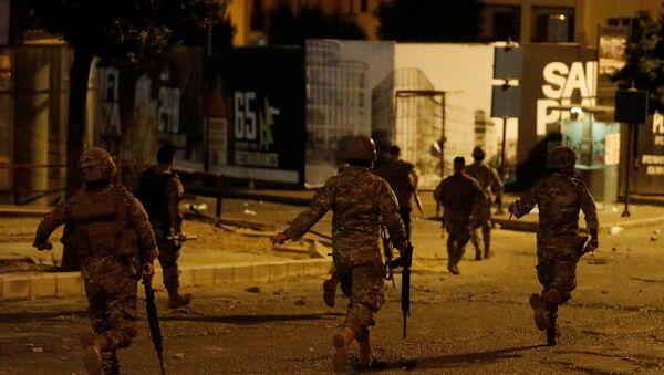 Lebanese army soldiers in Beirut, Lebanon - Sputnik International