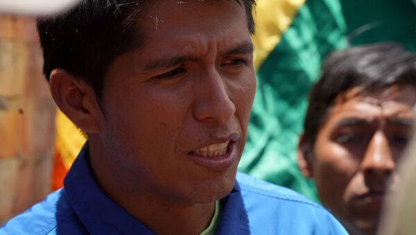 Andronico Rodriguez, leader of coca growers who support Bolivia's ousted President Evo Morales - Sputnik International