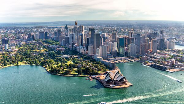 Aerial view of Sydney Harbor and Downtown Skyline, Australia - Sputnik International