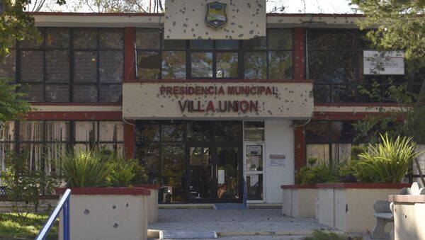 City Hall of Villa Union is Riddled with Bullet Holes - Sputnik International