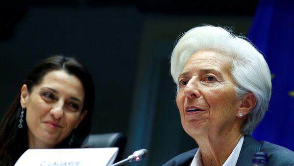 European Central Bank (ECB) President Christine Lagarde testifies before the European Parliament's Economic and Monetary Affairs Committee in Brussels, Belgium December 2, 2019. - Sputnik International