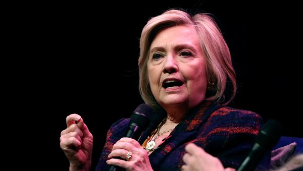 Former U.S. Secretary of State Hillary Clinton speaks during an event promoting The Book of Gutsy Women at the Southbank Centre in London, Britain, November 10, 2019 - Sputnik International