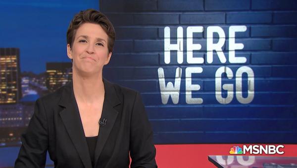 Rachel Maddow during a July 22, 2019, segment about One America News Network - Sputnik International