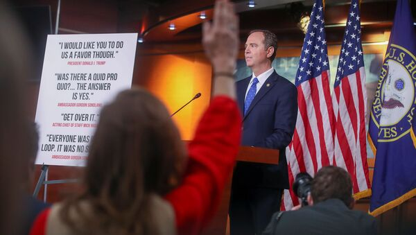 U.S. House Intelligence Committee Chairman Adam Schiff (D-CA) takes questions during a news conference with Capitol Hill reporters ahead of a committee vote on its findings in the impeachment inquiry into U.S. President Donald Trump on Capitol Hill in Washington, U.S., December 3, 2019. - Sputnik International