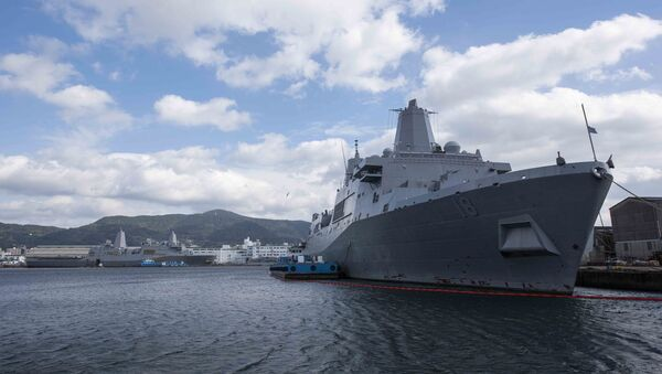 San Antonio-class amphibious transport dock ship USS New Orleans (LPD 18) is moored pierside at Commander, Fleet Activities Sasebo after completing her transit from San Diego, California. New Orleans - Sputnik International