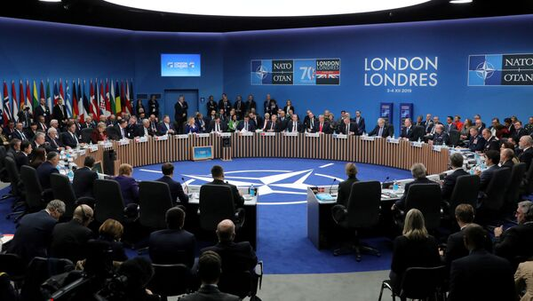 NATO heads of state attend the plenary session of the NATO summit at the Grove hotel in Watford, Britain - Sputnik International