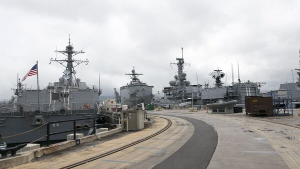 Naval ships from various countries are docked at Hawaii's Joint Base Pearl Harbor-Hickam - Sputnik International