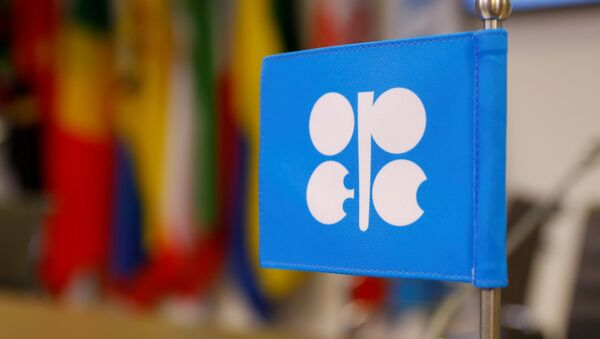 The logo of the Organization of the Petroleum Exporting Countries (OPEC) is seen inside its headquarters in Vienna, Austria, December 7, 2018 - Sputnik International