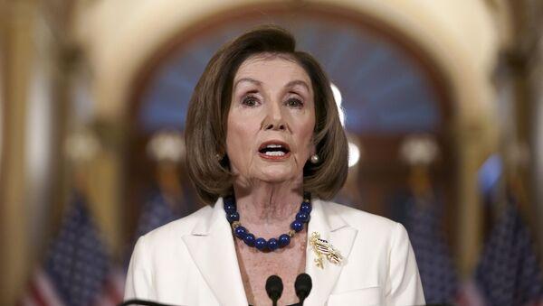 Speaker of the House Nancy Pelosi, D-Calif., makes a statement at the Capitol in Washington, Thursday, Dec. 5, 2019 - Sputnik International