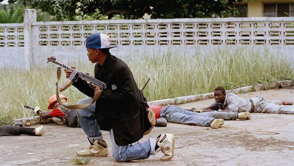 Rebel soldiers in civil war in Liberia - Sputnik International