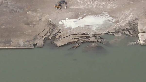 #Chopper7 is over the Revere Copper Site, which partially collapsed on the American side of the Detroit River. Canadian officials are concerned over radioactive contamination - Sputnik International