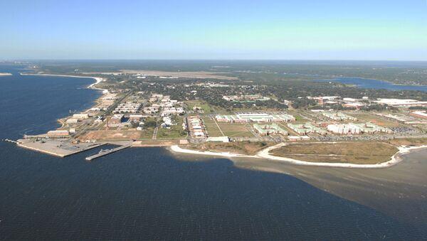 Naval Air Station Pensacola is seen in an aerial view in Pensacola, Florida, U.S. August 14, 2012. Picture taken August 14, 2012. U.S.  - Sputnik International