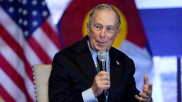Democratic U.S. presidential candidate Michael Bloomberg speaks about his gun policy agenda in Aurora, Colorado, U.S. December 5, 2019 - Sputnik International