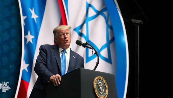 U.S. President Donald Trump delivers remarks at the Israeli American Council National Summit in Hollywood, Florida - Sputnik International
