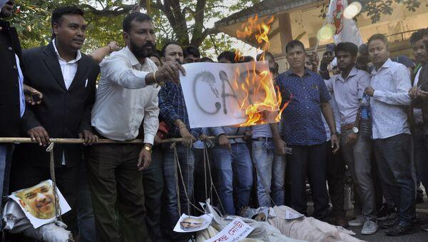 All Assam Student's Union (AASU) activists in Gauhati, India - Sputnik International