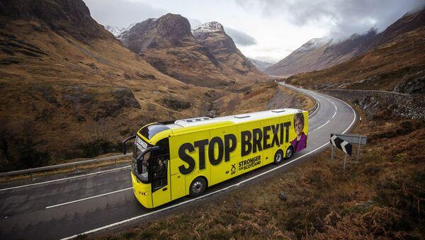 SNP battle bus in the Highlands - Sputnik International
