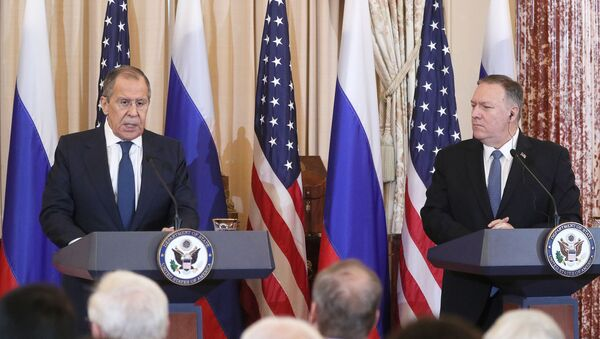 Russian Foreign Minister Sergei Lavrov and US Secretary of State Mike Pompeo held a meeting in the United States - Sputnik International