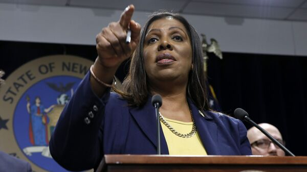 New York State Attorney General Letitia James during a news conference at her office in New York - Sputnik International