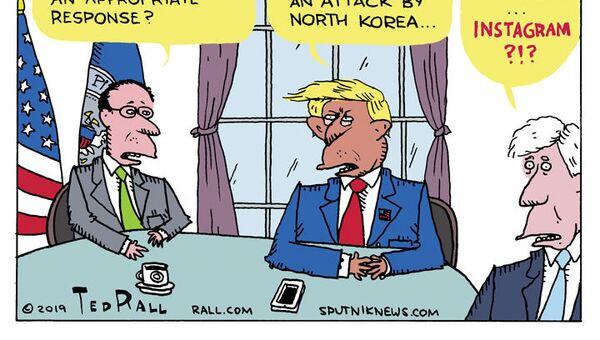 Trump's Two-Thumb Defense  - Sputnik International