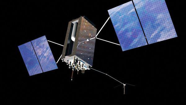Artist's impression of a GPS Block satellite in orbit - Sputnik International