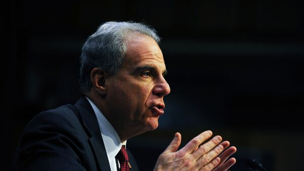 U.S. Justice Department Inspector General Michael Horowitz testifies before a Senate Judiciary hearing on his report on alleged abuses of the Foreign Intelligence Surveillance Act in the Hart Senate office building in Washington, U.S., December 11, 2019. - Sputnik International