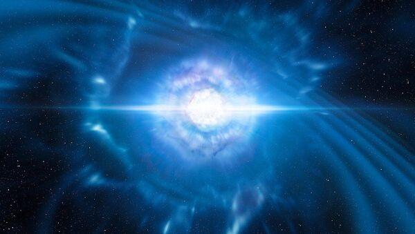 Artist's impression of merging neutron stars - Sputnik International