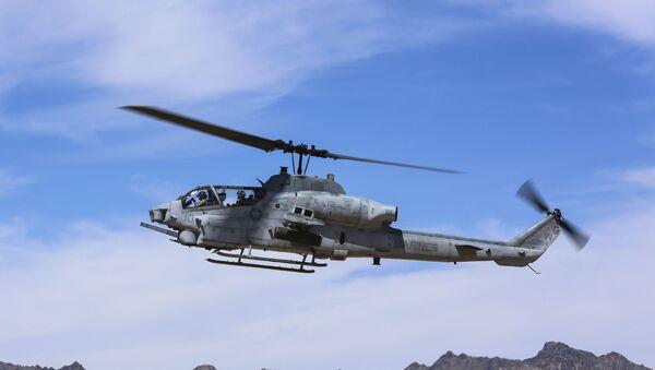 AH-1Z Viper at the Chocolate Mountain Aerial Gunnery Range, California - Sputnik International