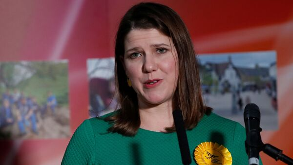 Liberal Democrats candidate Jo Swinson speaks after losing her seat in East Dunbartonshire constituency, at a counting centre for Britain's general election in Bishopbriggs, Britain December 13, 2019 - Sputnik International