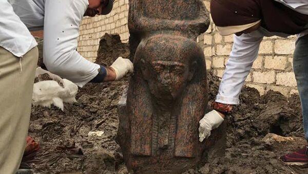 A rare pink statue of Ancient Egypt's King Ramses II  - Sputnik International