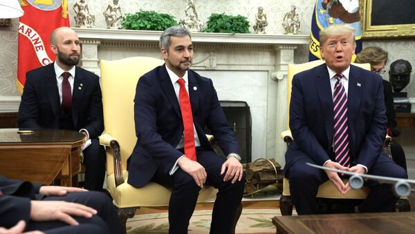 U.S. President Donald Trump and President of Paraguay Mario Abdo Benitez in the Oval Office of the White House - Sputnik International