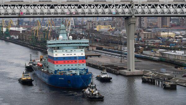 Russia Arktika Nuclear-Powered Icebreaker - Sputnik International
