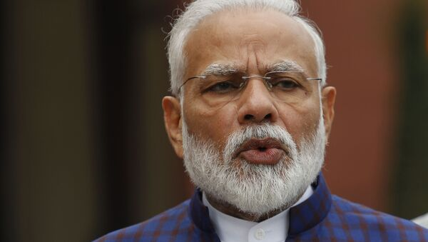 Indian Prime Minister Narendra Modi, addresses the media on the opening day of the winter session of the Parliament in New Delhi, India, Monday, Nov.18, 2019 - Sputnik International