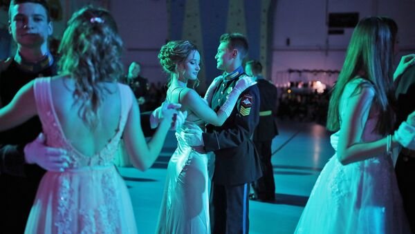 Can I Have This Dance? Cadets Waltz at New Year's Ball - Sputnik International