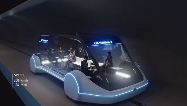 A vehicle from The Boring Company concept video for high-speed underground public transportation system called Loop - Sputnik International
